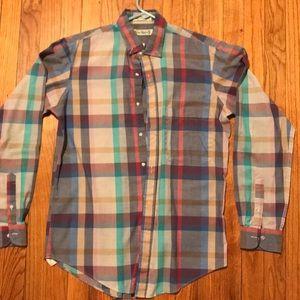 Vintage 80's Cacharel plaid pastel shirt